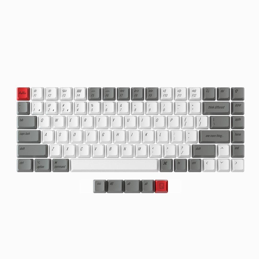 Keycaps: Keychron K2 PBT Retro Mac